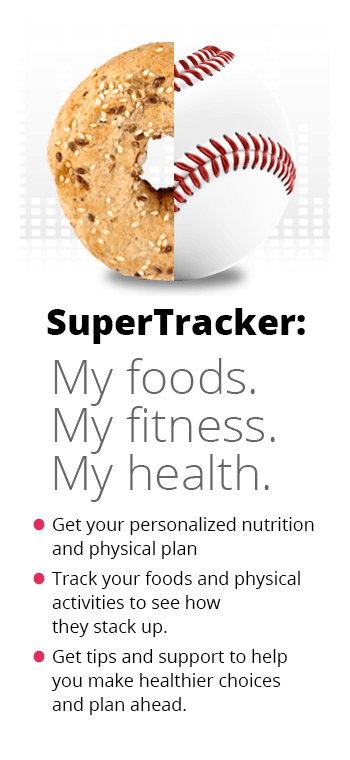 Super Tracker: My foods. My fitness. My health.